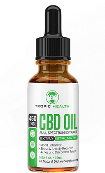 cbd bottle tropic health club